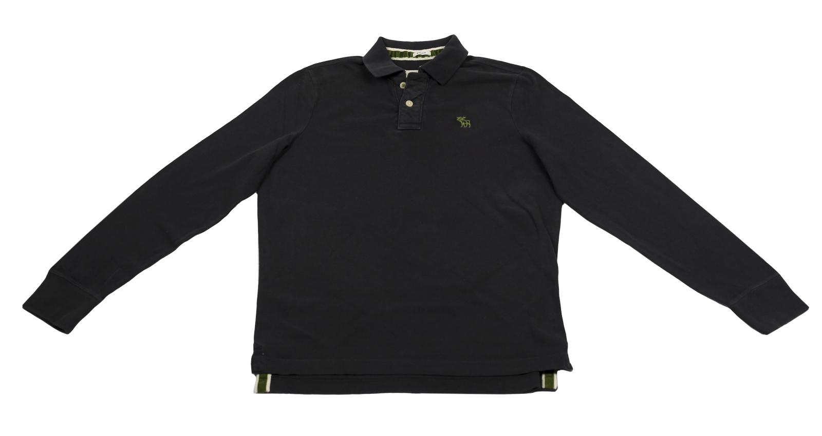 Рубашка-поло с длинным рукавом Abercrombie&Fitch из 100% хлопка