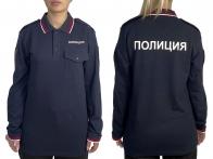 """Рубашка-поло с надписью """"Полиция"""""""