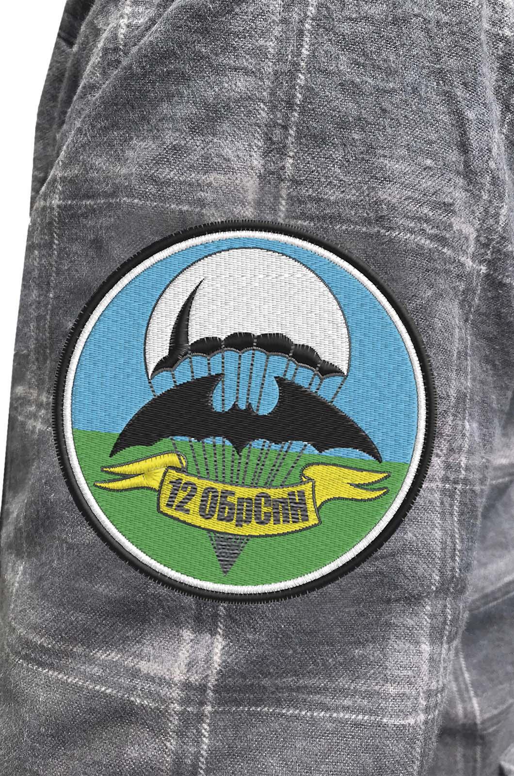 Рубашка с нашивкой 12 ОБрСпН купить в розницу