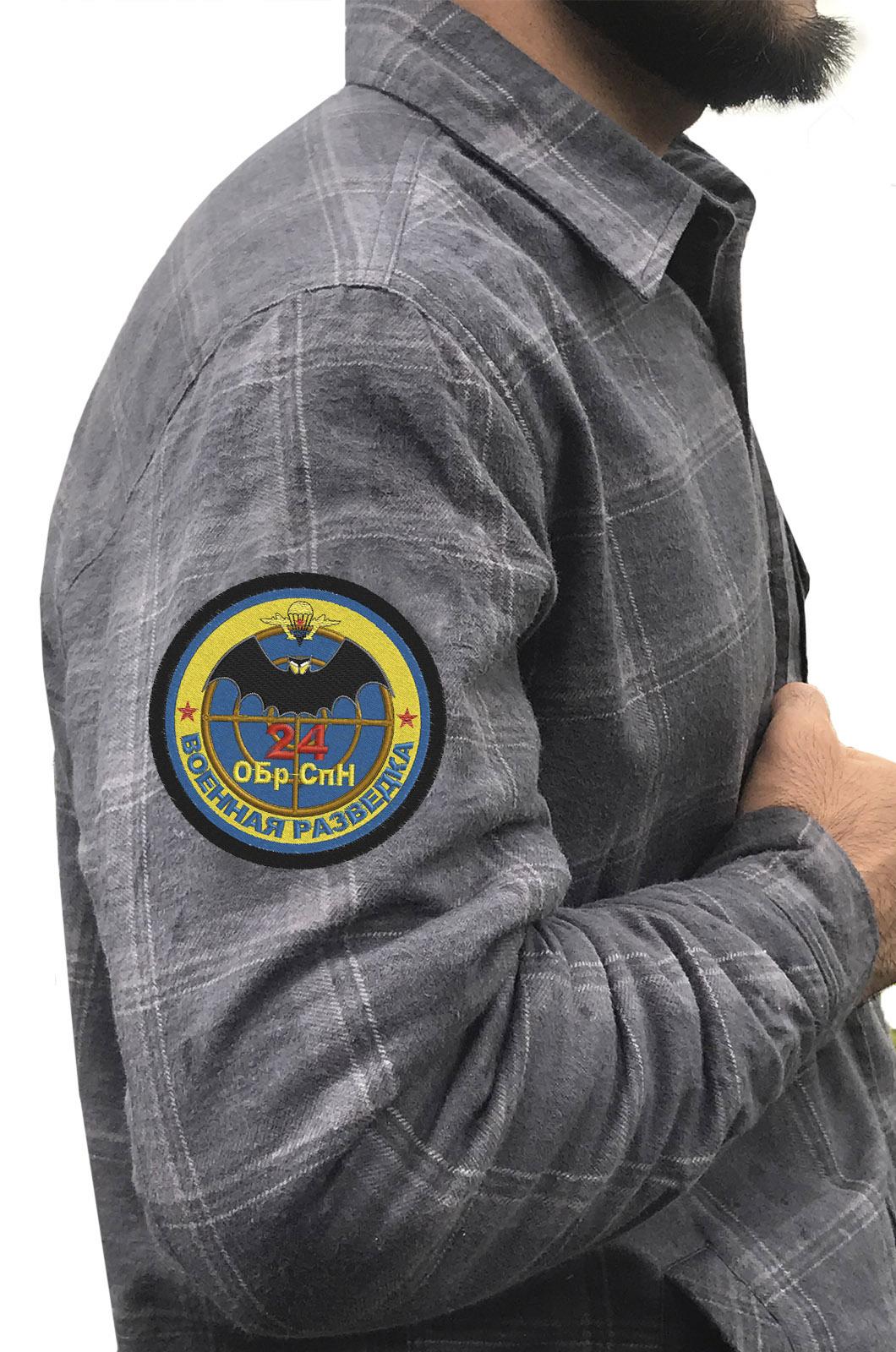Рубашка с шевроном Военной разведки 24 ОБрСпН купить с доставкой
