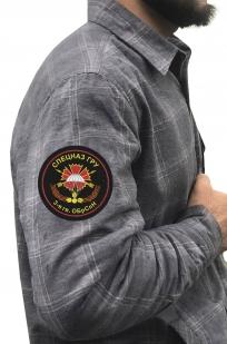 Рубашка серая с нашивкой 3-я ОБрСпН ГРУ купить с доставкой