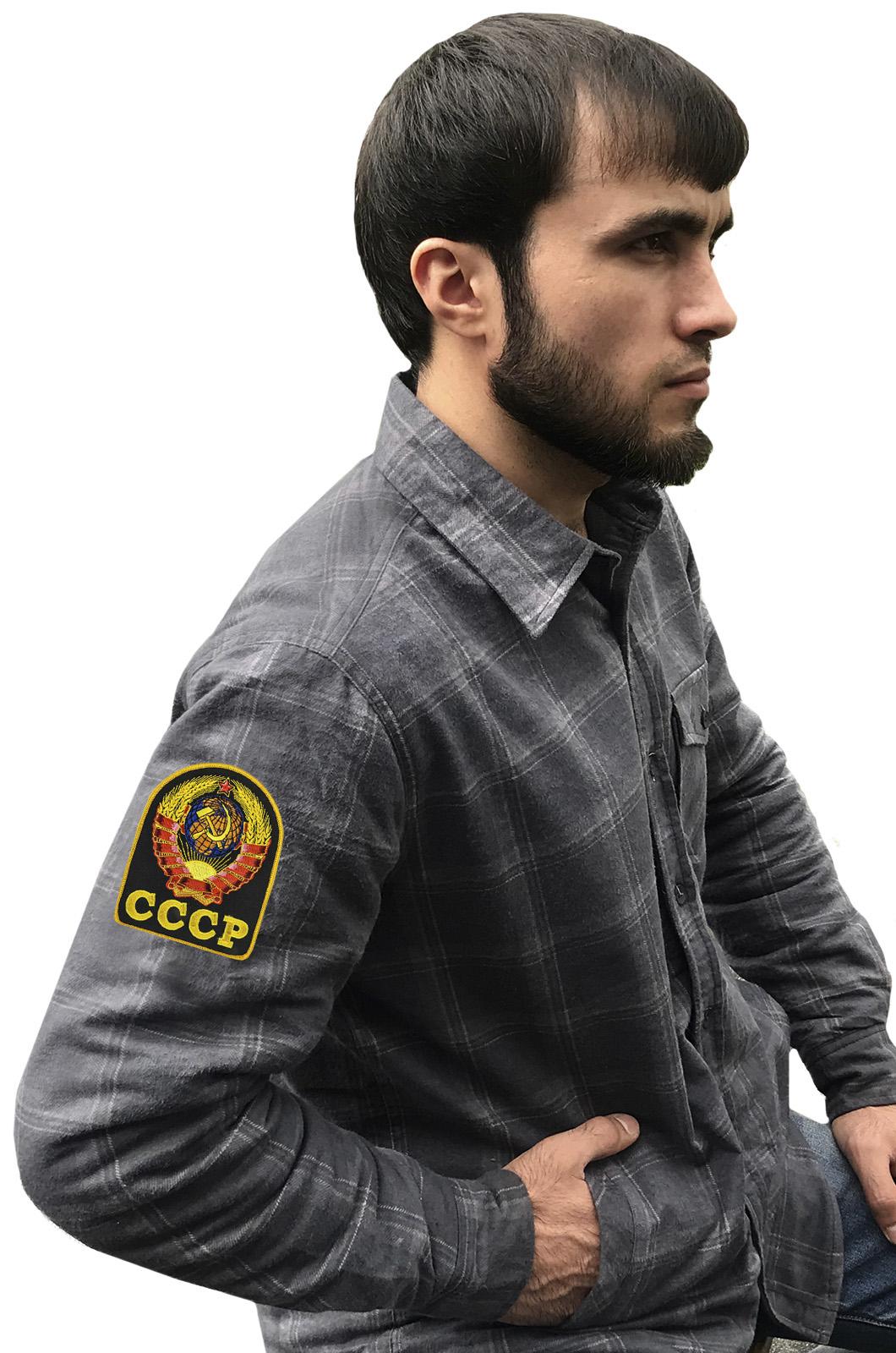 Мужская рубашка «СССР» из теплого хлопка