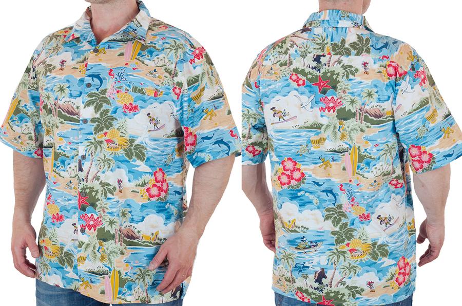 Заказать рубашку в гавайском стиле от Disney