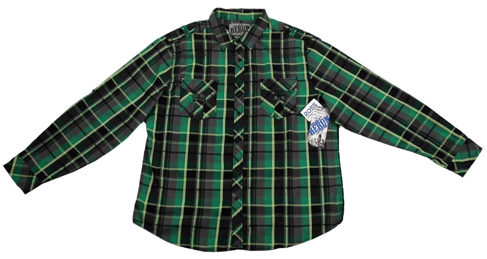 Рубашка в клетку Rerun