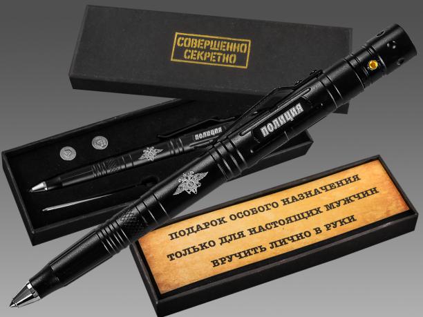 Ручка-фонарик-нож-стеклобой с эмблемой Полиции