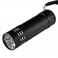 Ручной мини-фонарик 9 LED (черный)