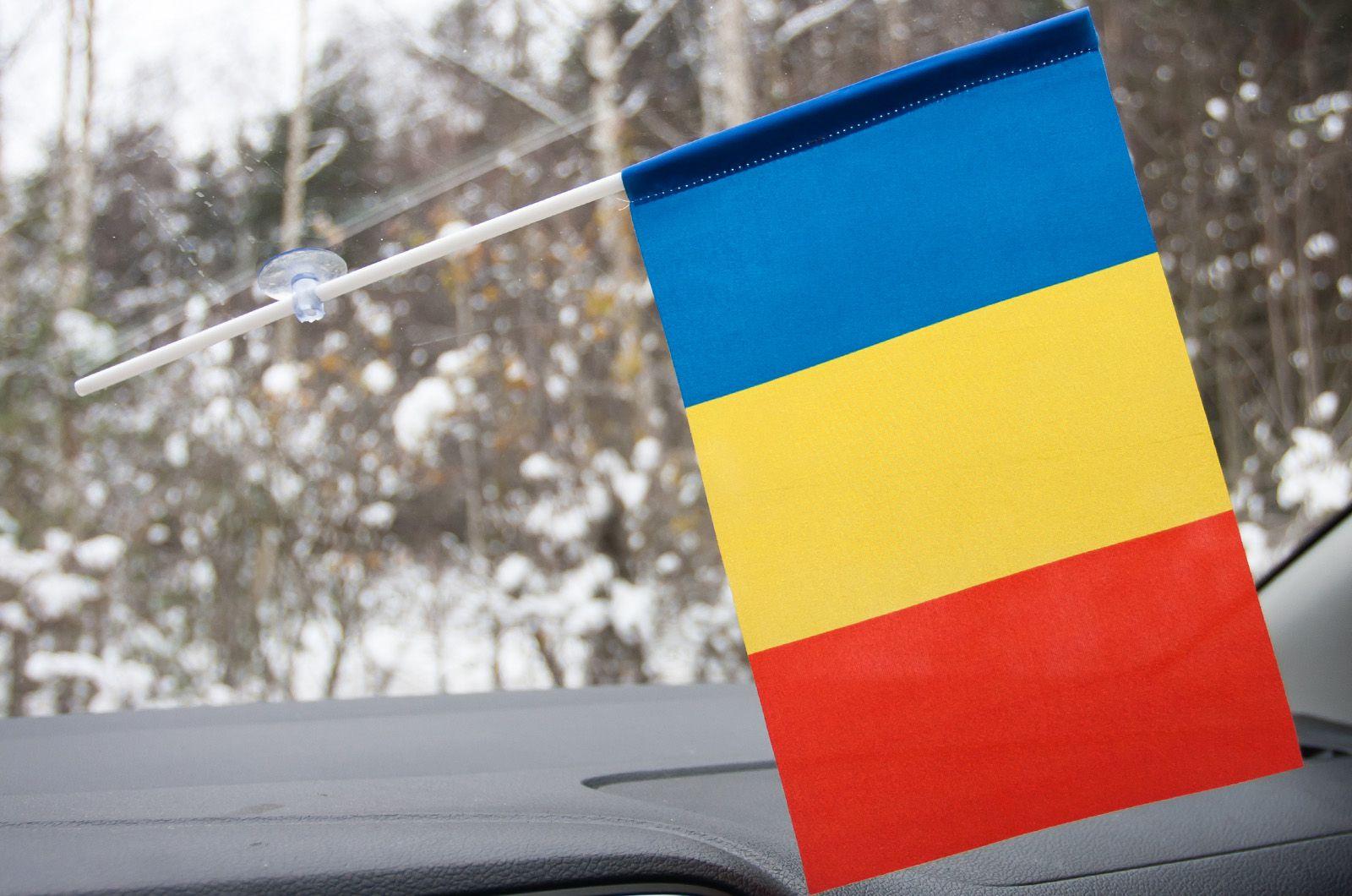 Румынский флажок на присоске