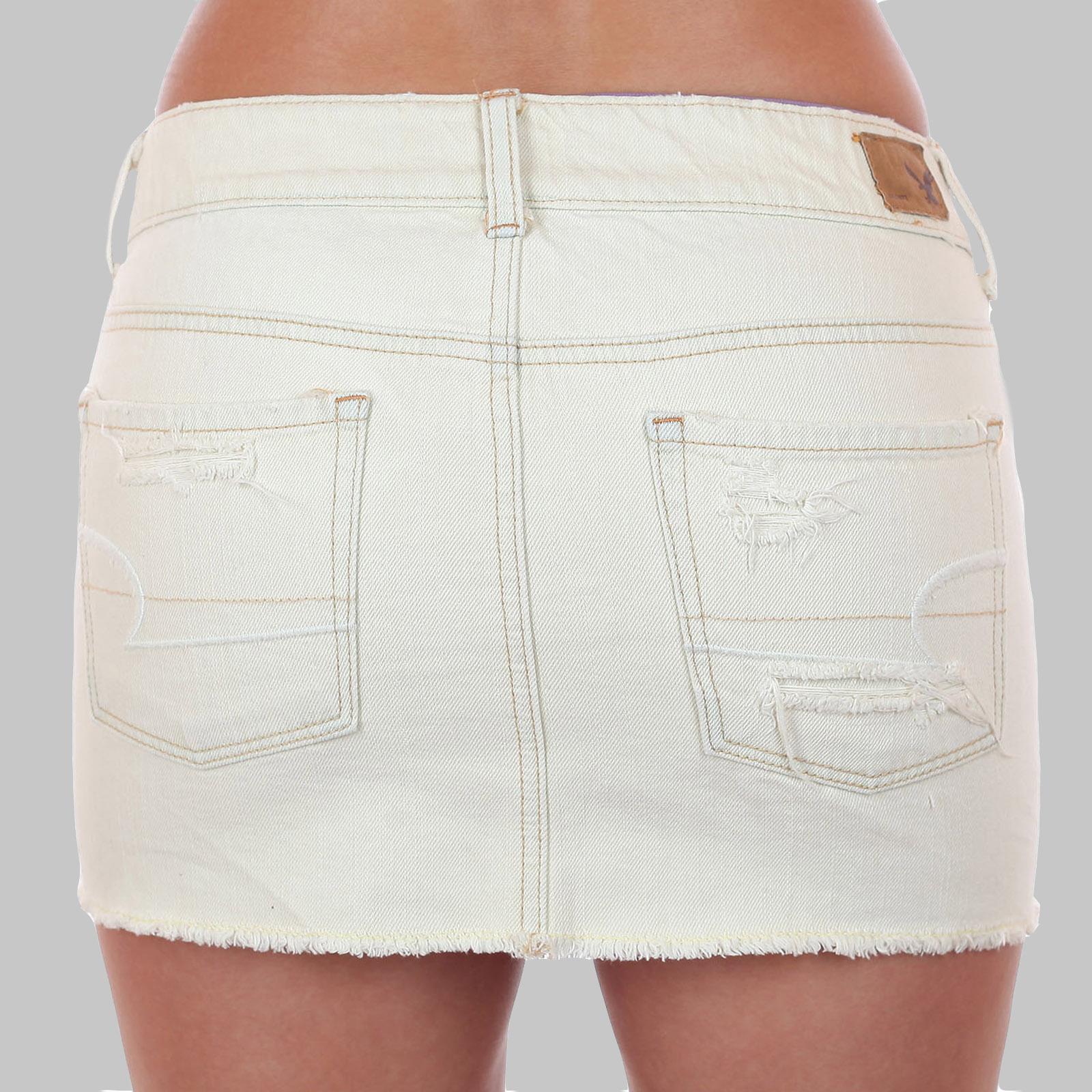 Рваная джинсовая юбка