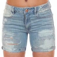 Рваные джинсовые шорты American Eagle