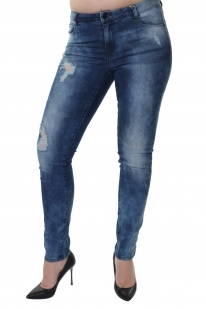 Рваные женские джинсы от английского бренда PIECES.
