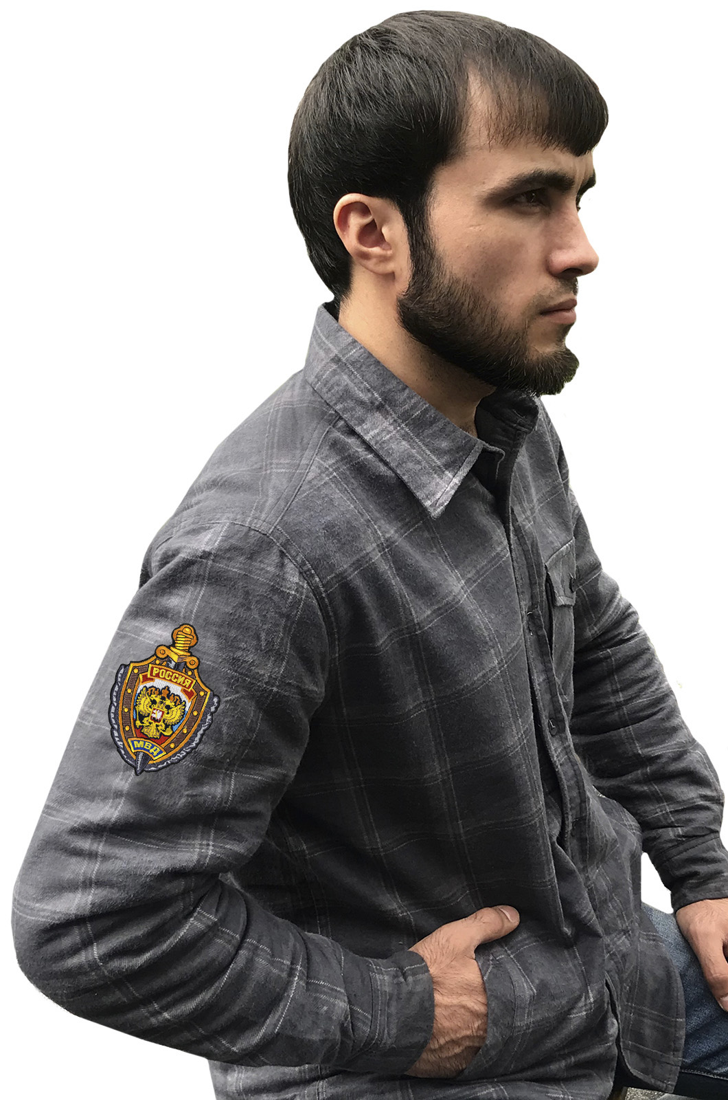Теплая мужская рубашка «МВД»