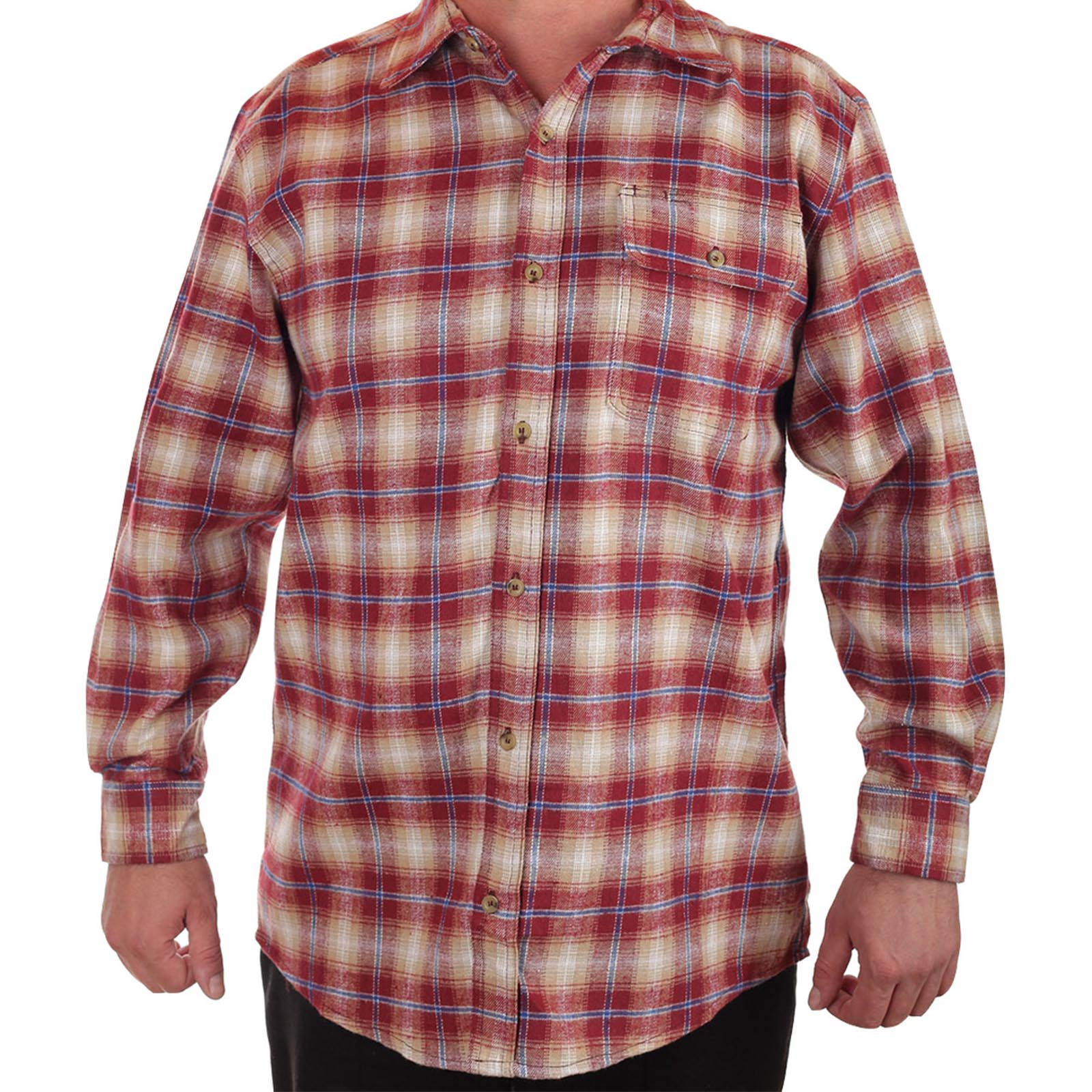 Тренд следующих сезонов! Мужская рубашка-клетка Old Mill
