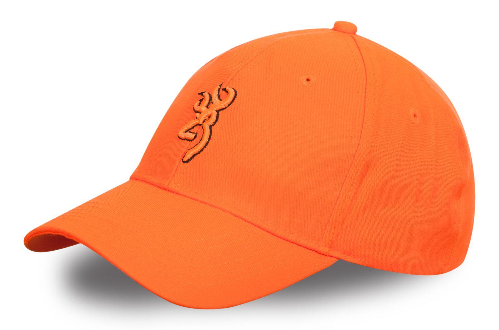 Рыбацкая бейсболка оранжевая