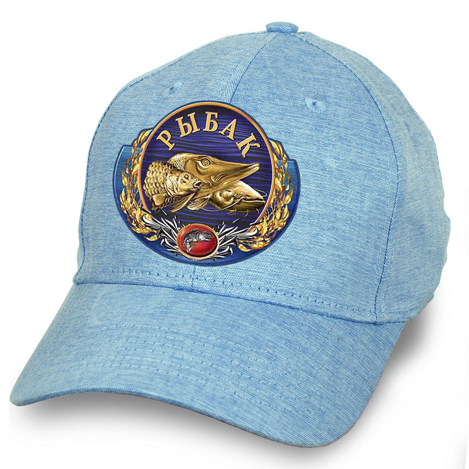 Рыболовная бейсболка голубой меланж - купить с доставкой