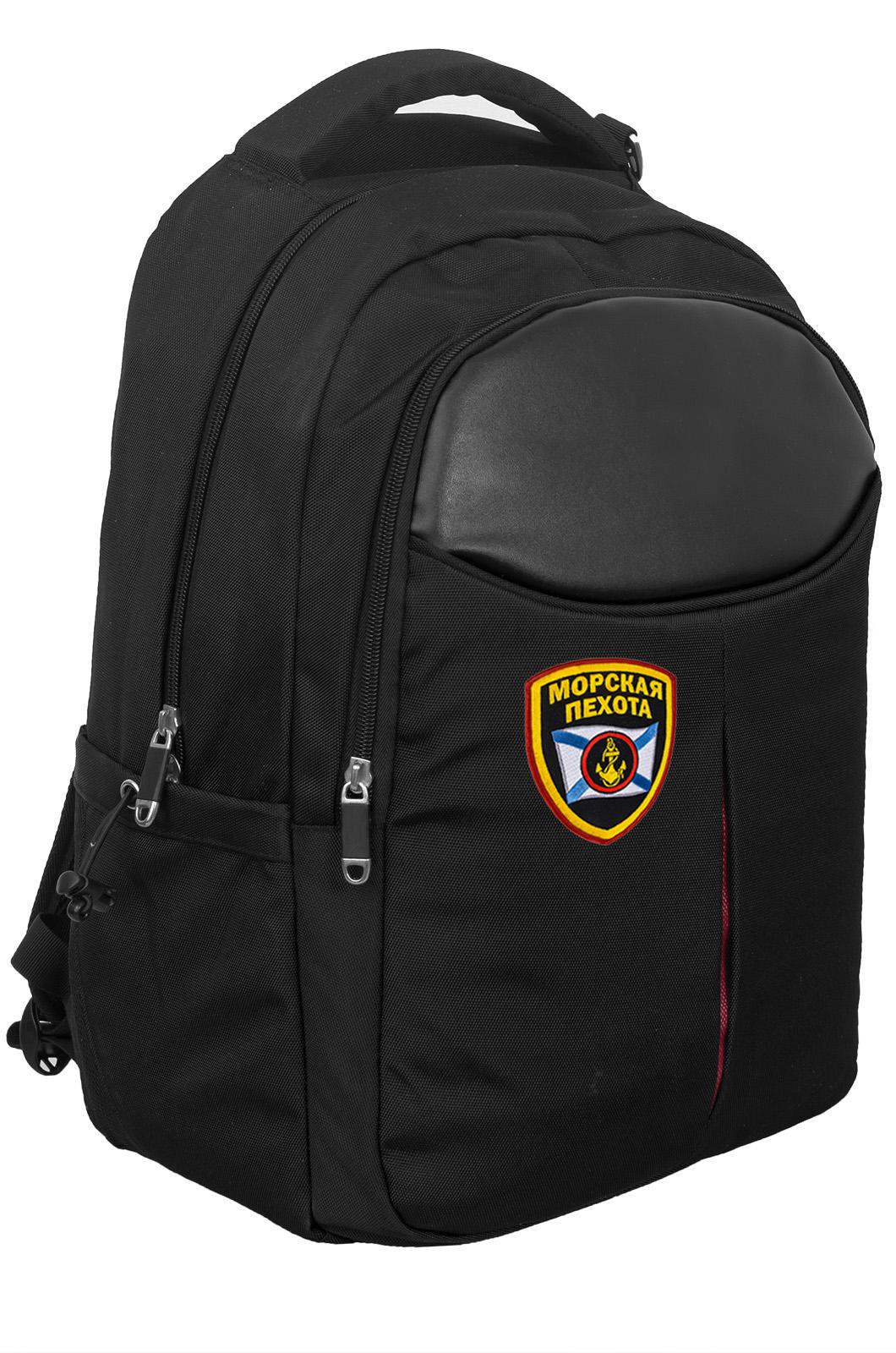 Купить стильный мужской рюкзак черного цвета для города