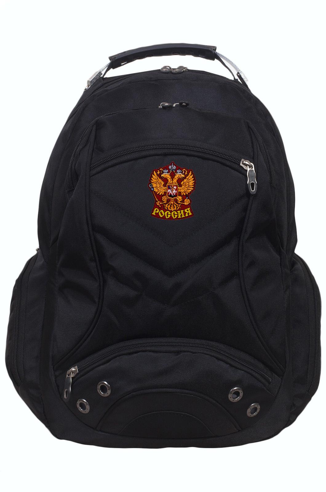 Рюкзак для города и спорта с шевроном Герб России