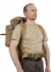 Рюкзак с чехлом для ружья хаки-песок