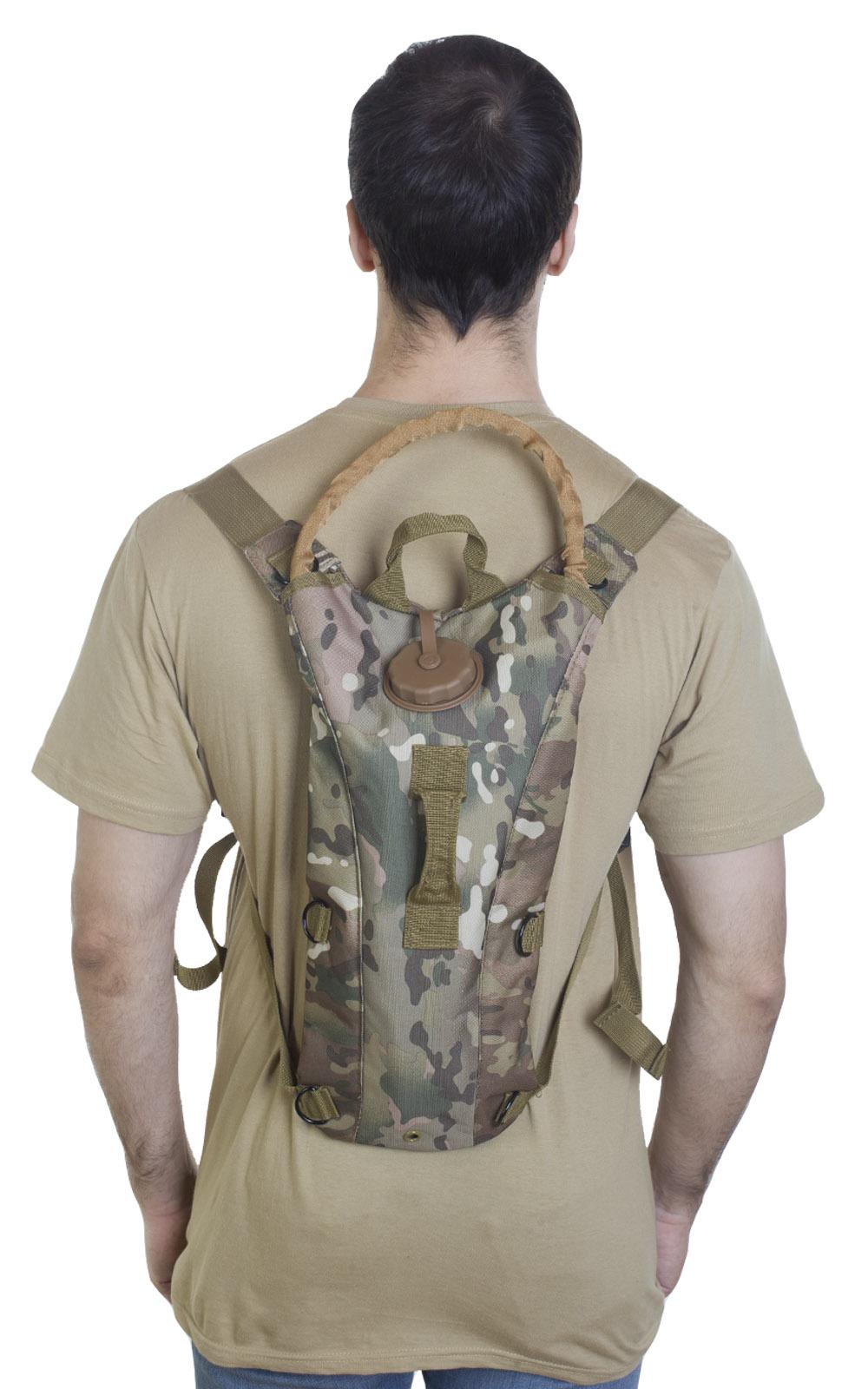 Рюкзак с водяным гидропаком в камуфляже Multicam