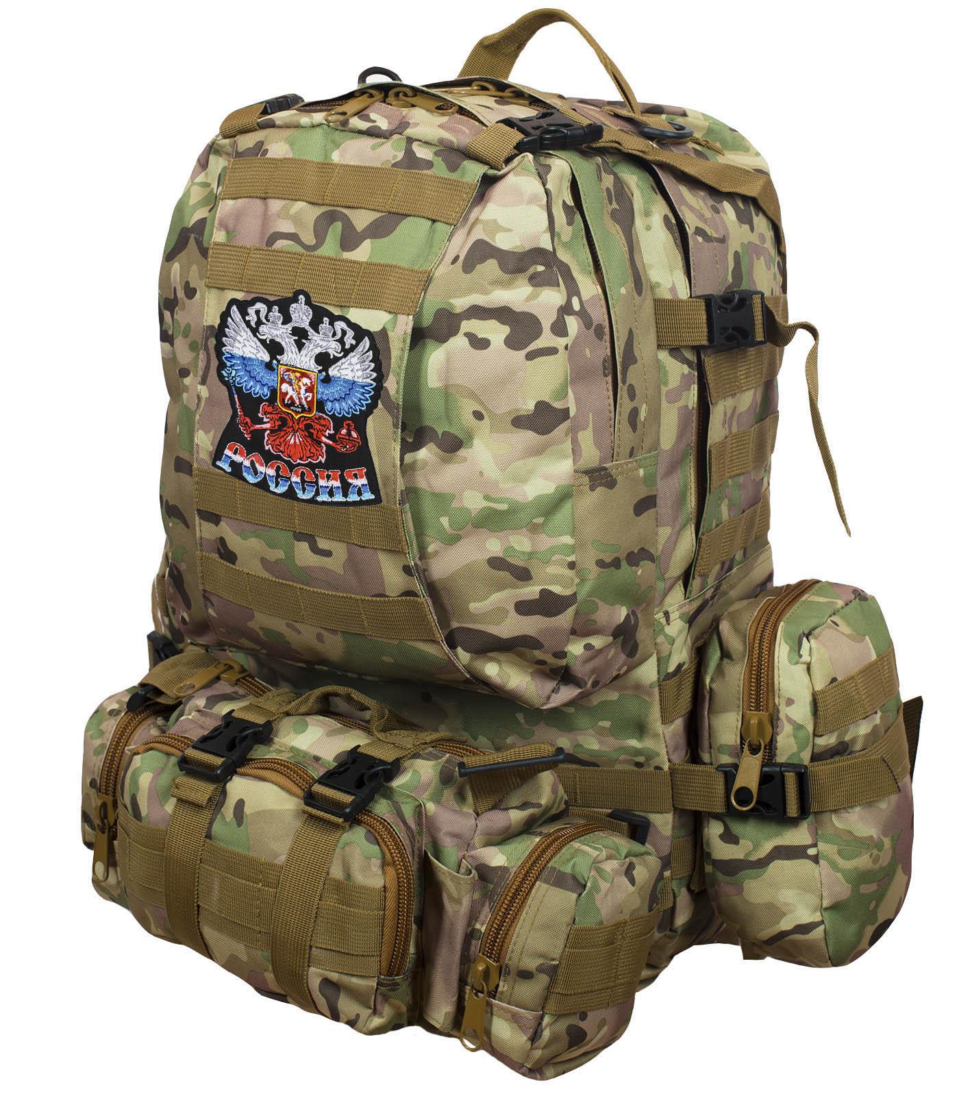 """Рюкзак US Assault Pack Multicam с эмблемой """"Россия""""  заказать в Военпро"""