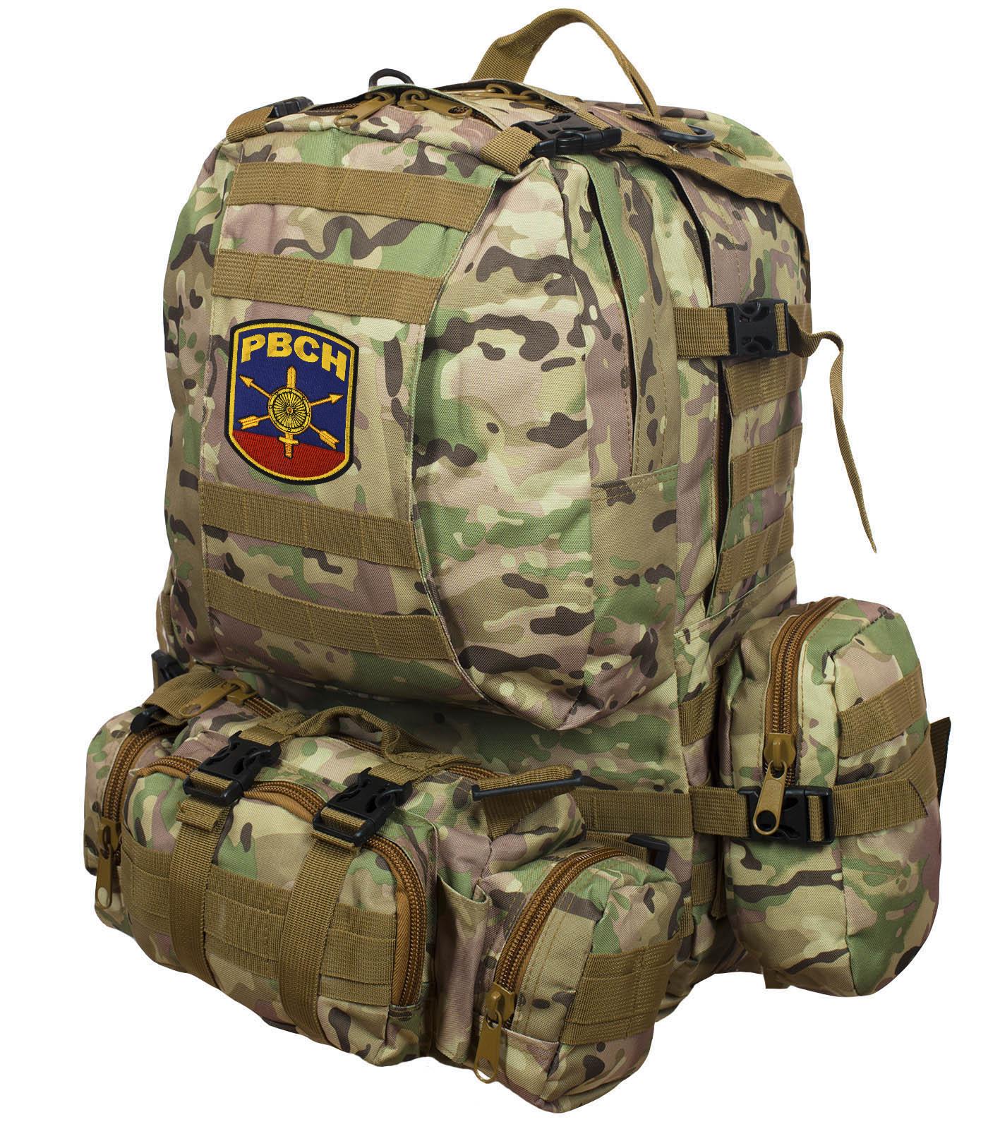 Тактические рюкзаки с нашивками и шевронами ВС России