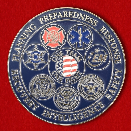 Safety Security Threat Consultant Mike Fagel Challenge Coin - obverse