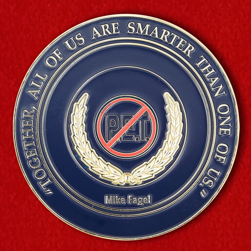 Safety Security Threat Consultant Mike Fagel Challenge Coin - reverse