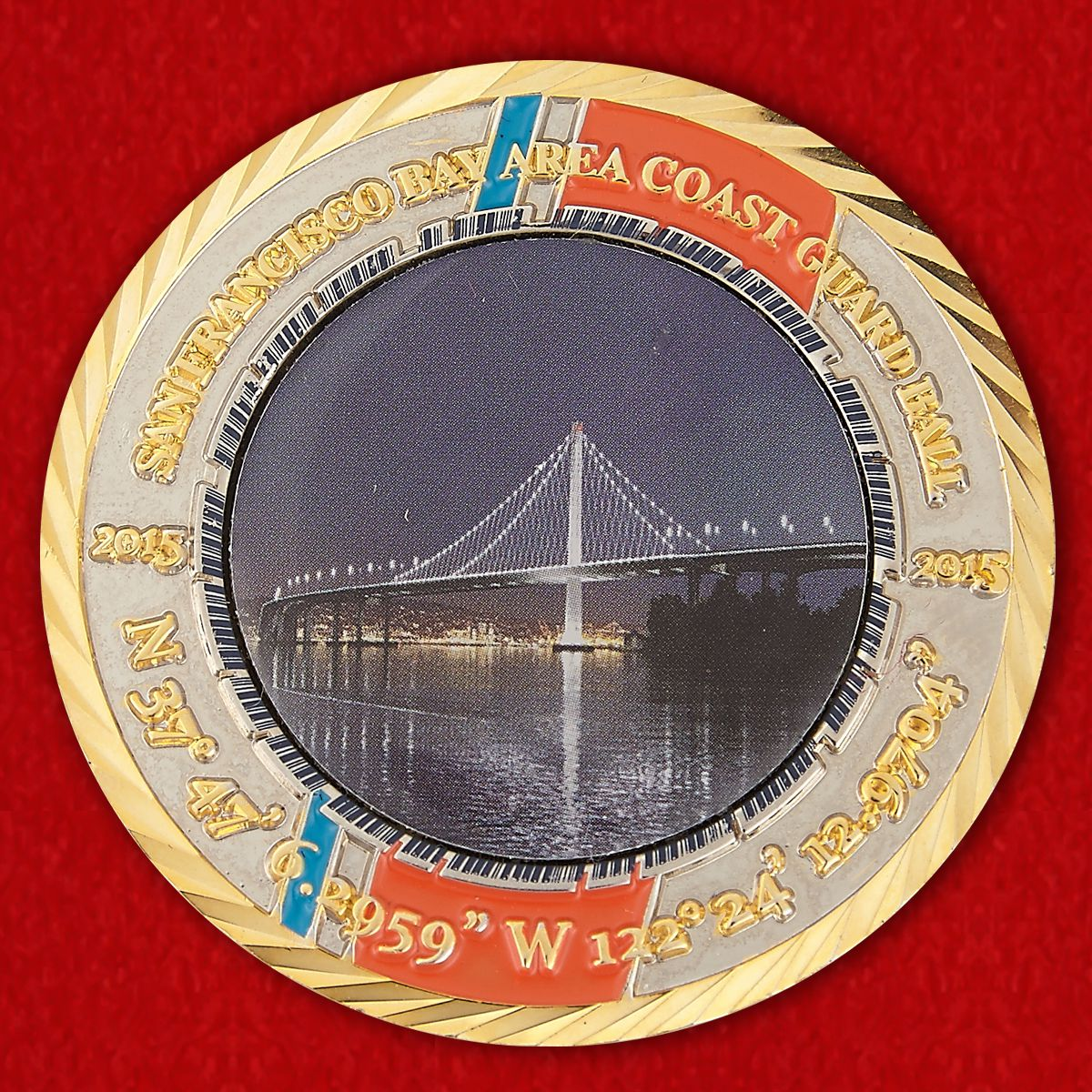 San Francisco Bay Area Coast Guard Ball Challenge Coin