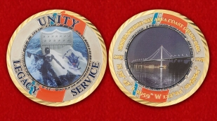San Francisco Bay Area Coast Guard Ball Challenge Coin - obverse and reverse