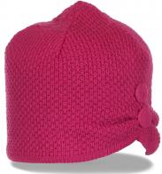 Щегольская женственная зимняя шапка с флисом новомодная модель последний крик моды