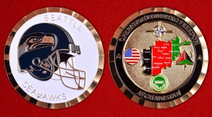 Seattle Seahawks Operation Enduring Freedom Challenge Coin