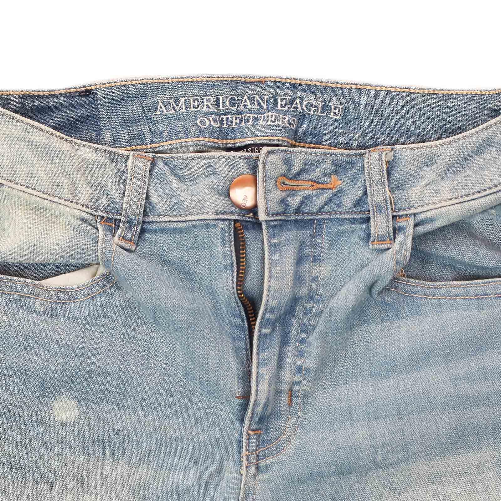 Сексапильные котоновые шортики American Eagle. Изящные отвороты, дерзкие потёртости и самый летний цвет! Хватит быть похожей на остальных!