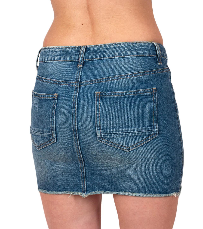 Сексуальная джинсовая юбка Pieces Denim Skirt
