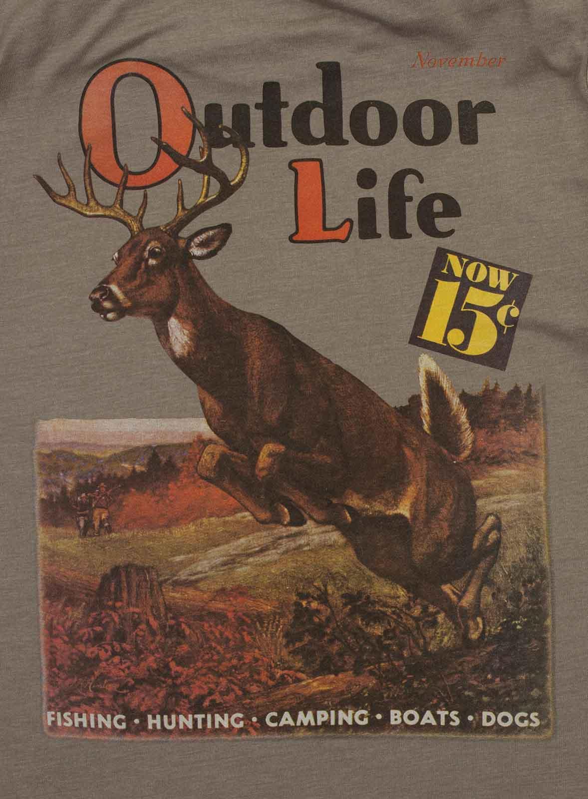 Серая мужская футболка Outdoor life.