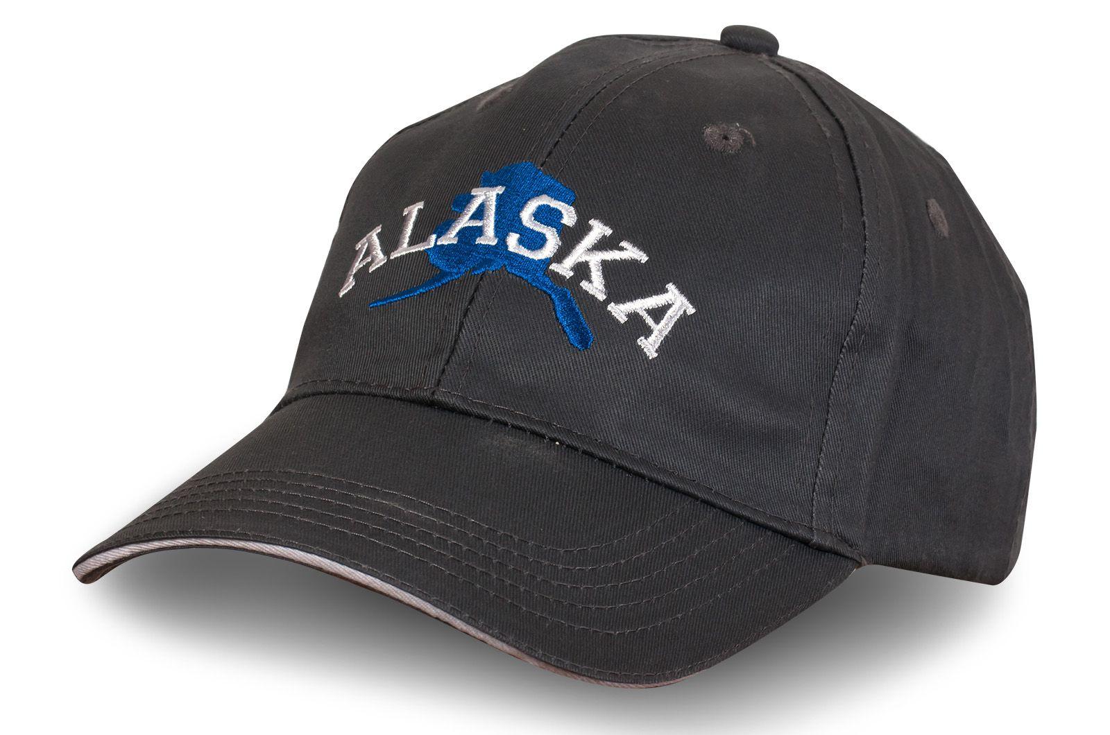 Серая бейсболка Аляска - купить недорого с доставкой