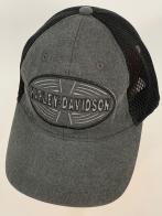 Серая бейсболка Harley-Davidson с серой сеткой