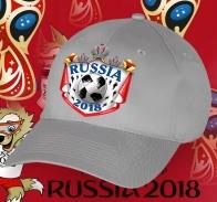 Серая бейсболка Russia 2018.