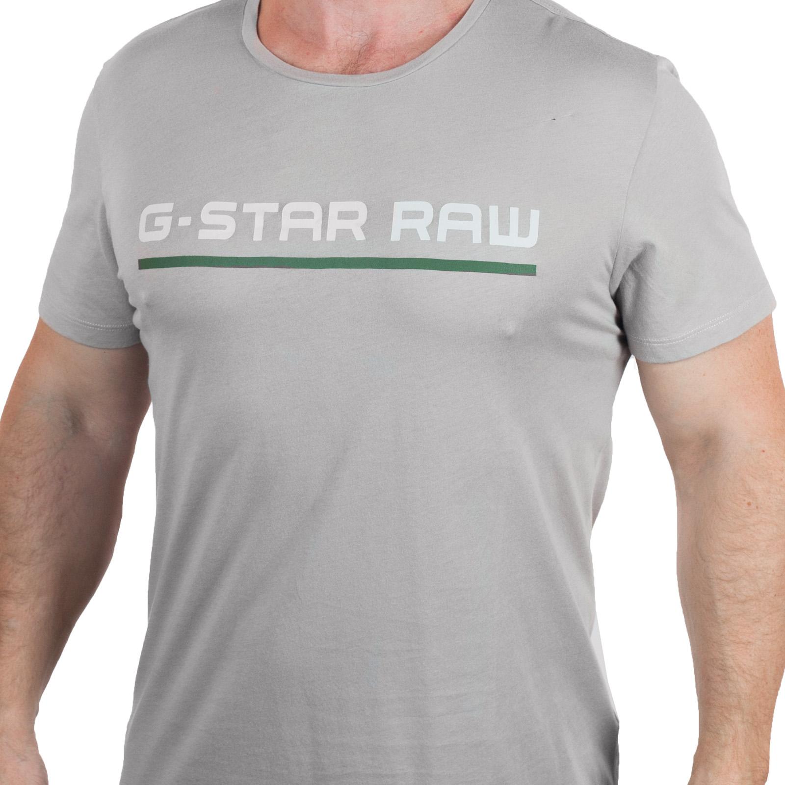 Серая футболка с надписью G-Star Raw