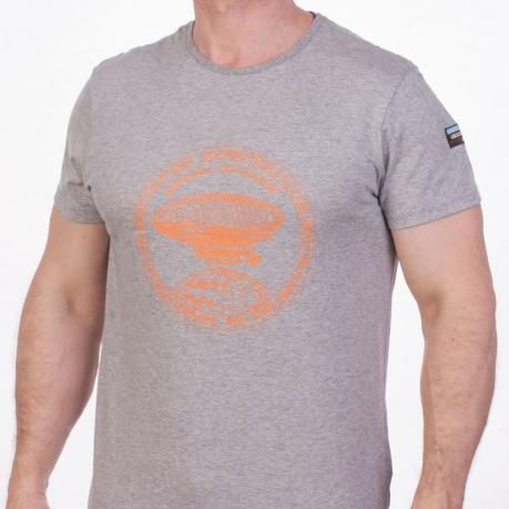 Серая футболка с принтом мужская (National Geographic Society, США)