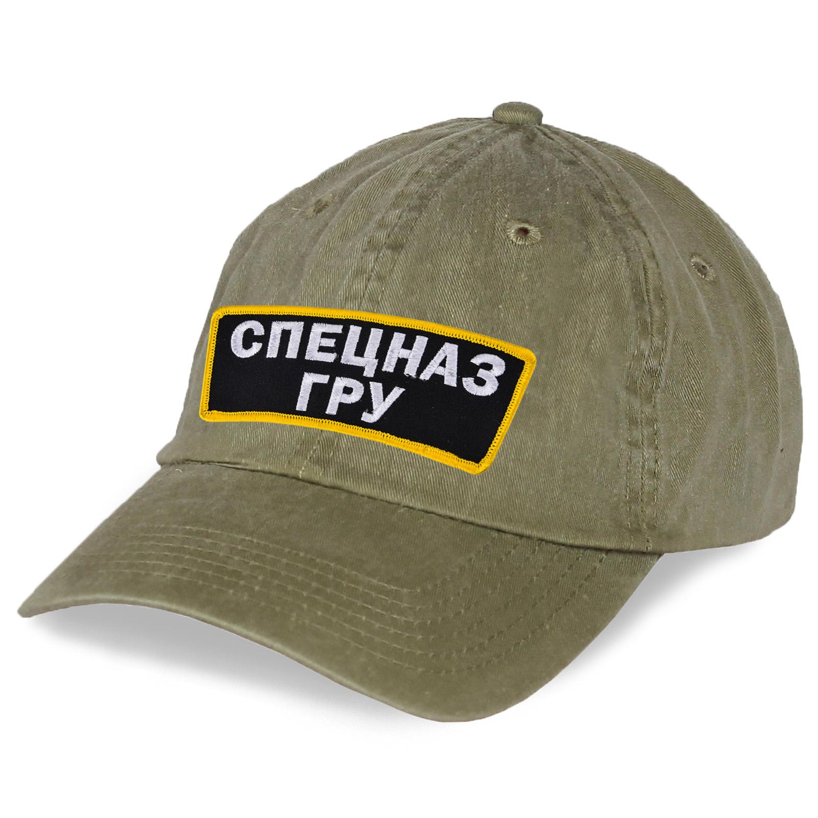 Серая хлопковая кепка Спецназ ГРУ