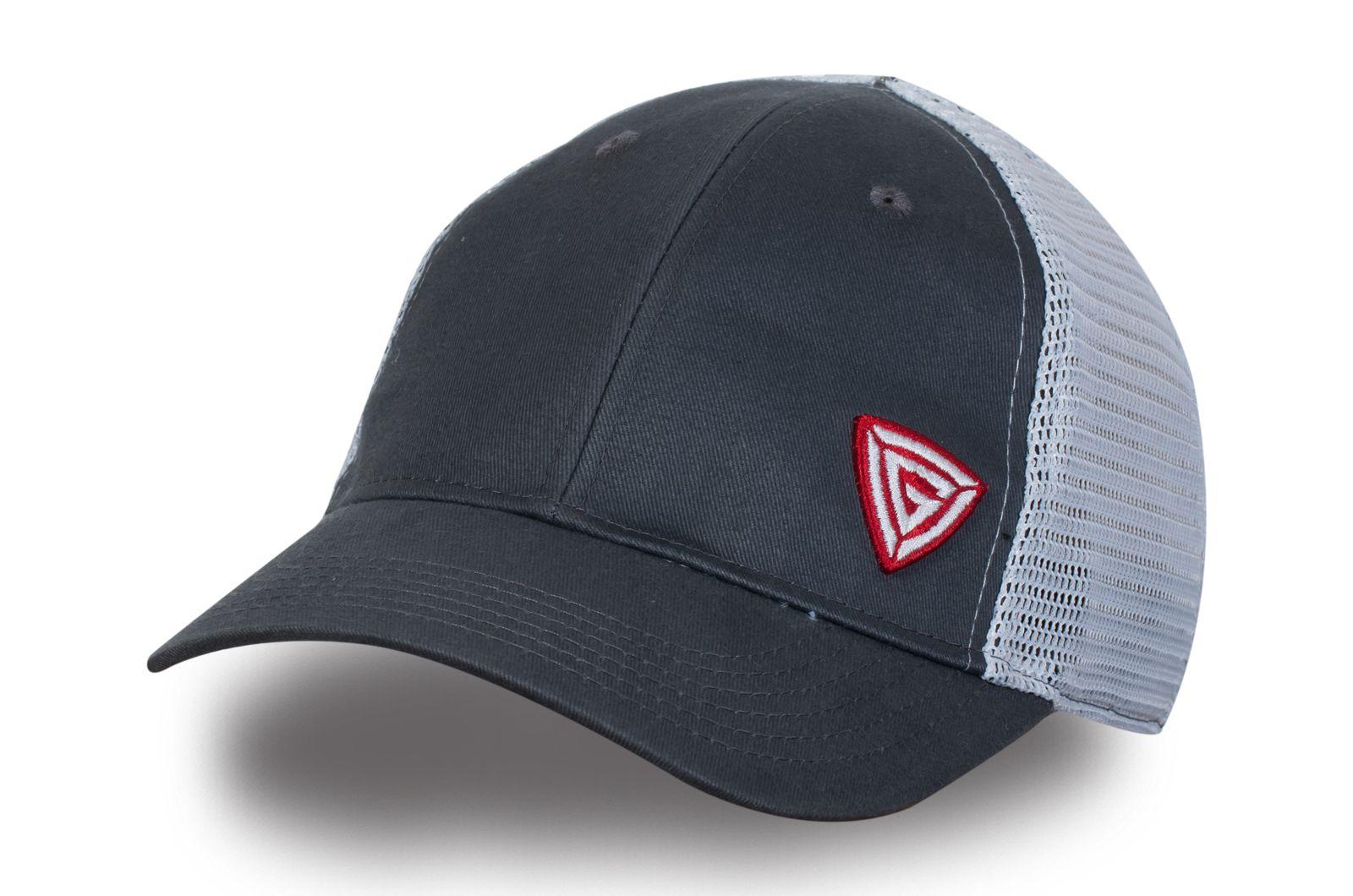 Серая кепка с логотипом - купить в интернет-магазине с доставкой