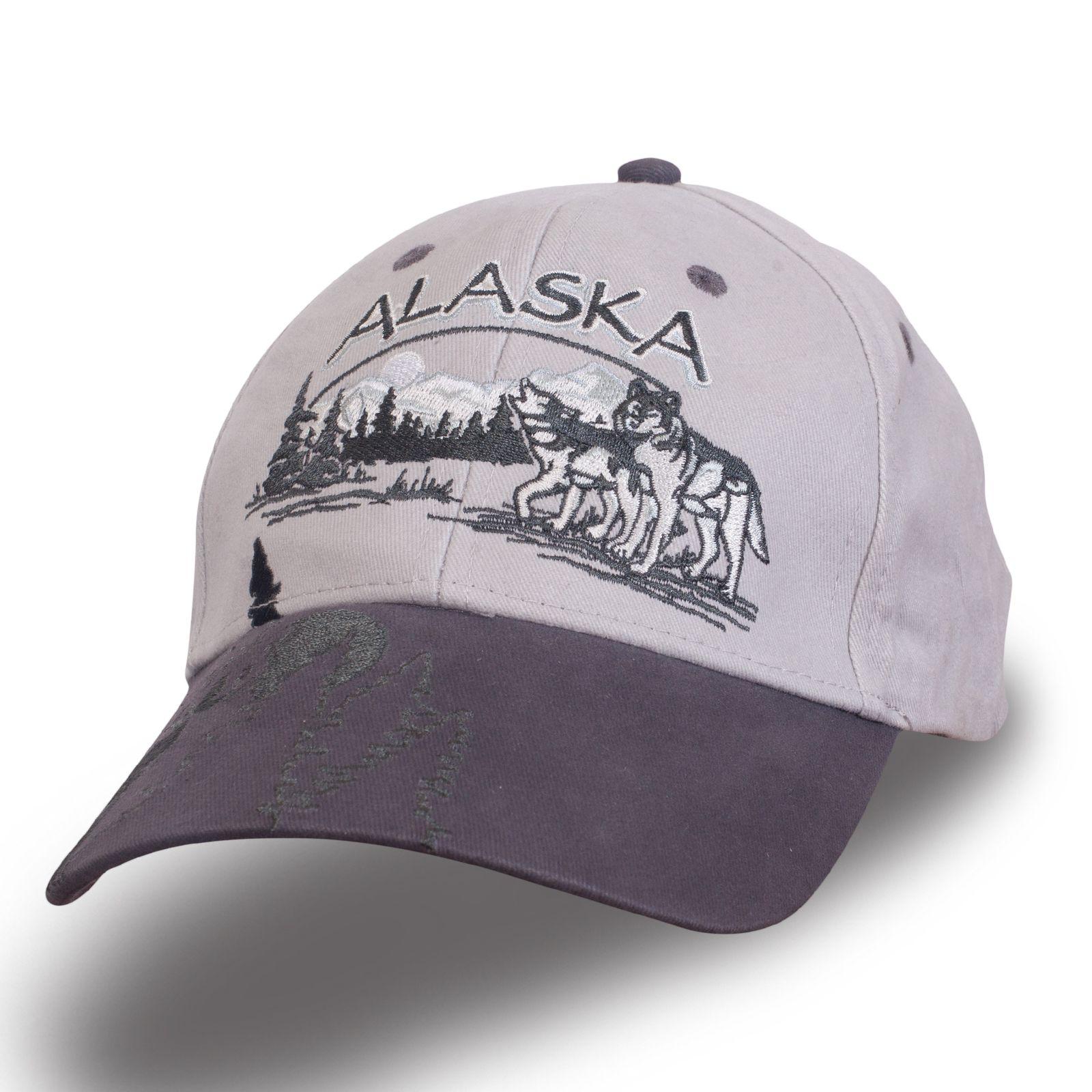 Серая кепка с вышивкой - купить в интернет-магазине с доставкой