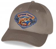 Серая кепка с вышивкой Лучший Рыбак