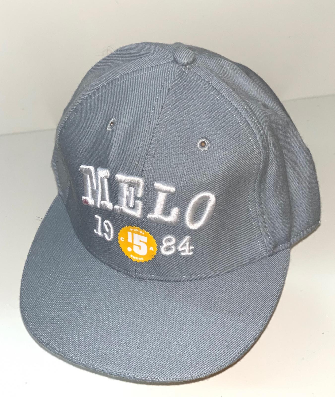 Серая кепка снепбек с вышивкой Melo
