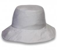 Серая классическая шляпа-панама