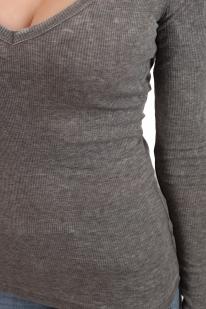 Серая женская кофта Cotton on с декольте. Сексуальный фасон резинка подчеркнёт иди даже СДЕЛАЕТ талию. Эффектно и с пиджаком, и с курткой
