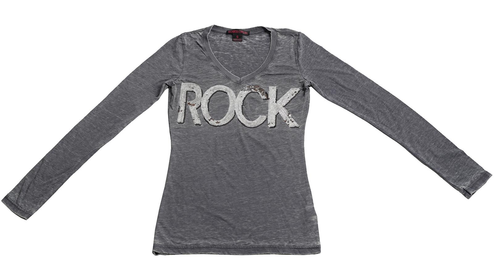 Серая кофточка Rock&Roll CowGirl. Приталенная модель для девушек с хорошим вкусом