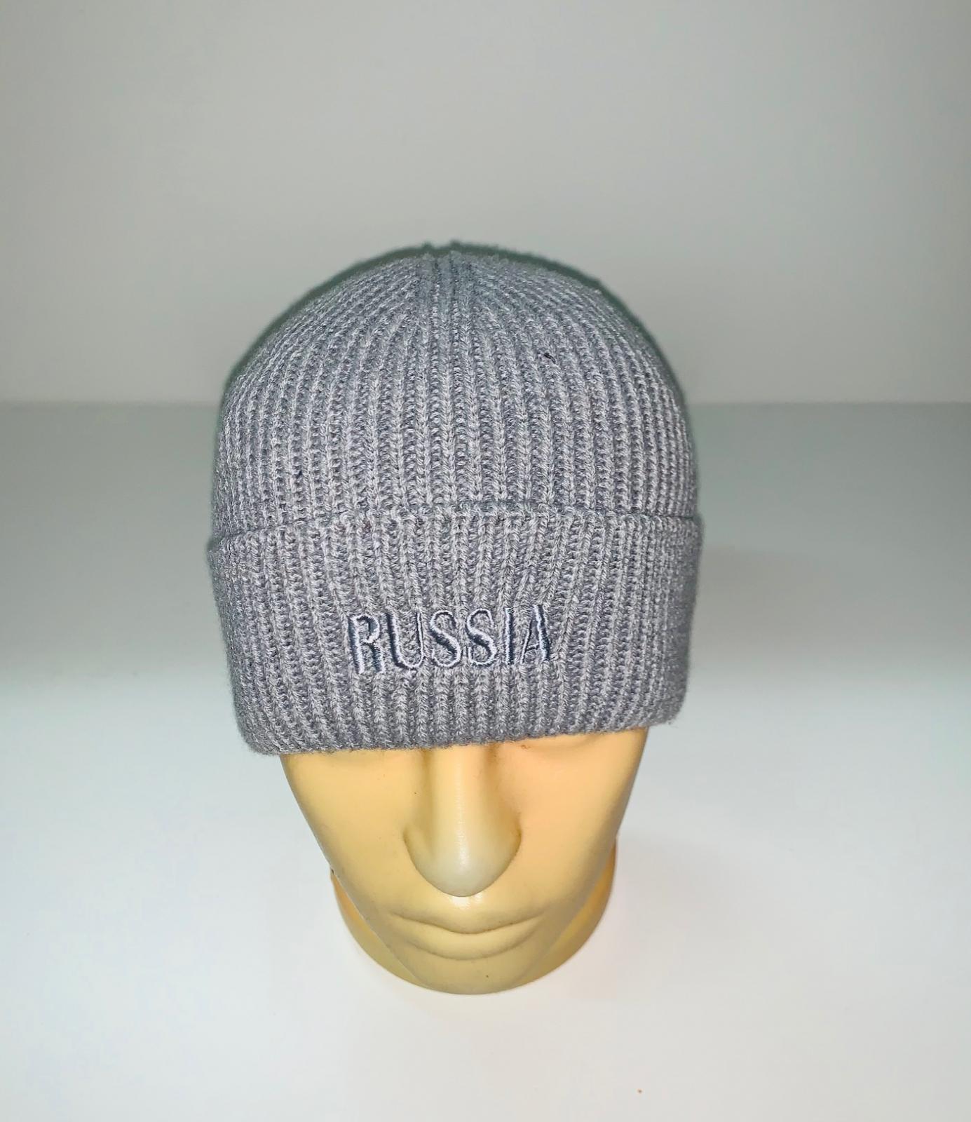Серая лаконичная шапка