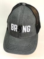 Серая летняя бейсболка Browning с черно-белой 3-D вышивкой