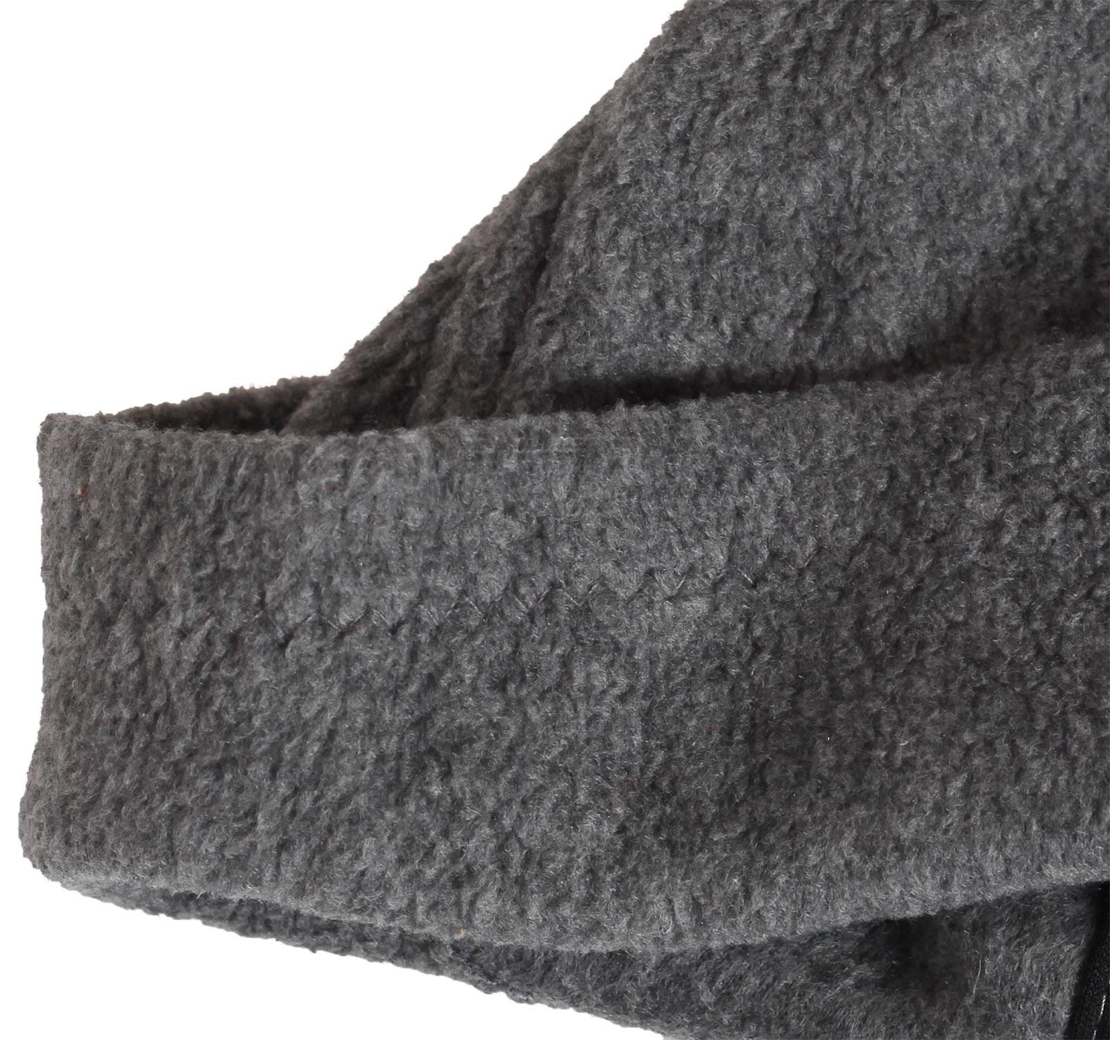 Заказать серую мужскую зимнюю флисовую шапку утепленную флисом по лучшей цене