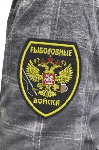 Серая рубашка с вышитым шевроном Рыболовные Войска - купить выгодно